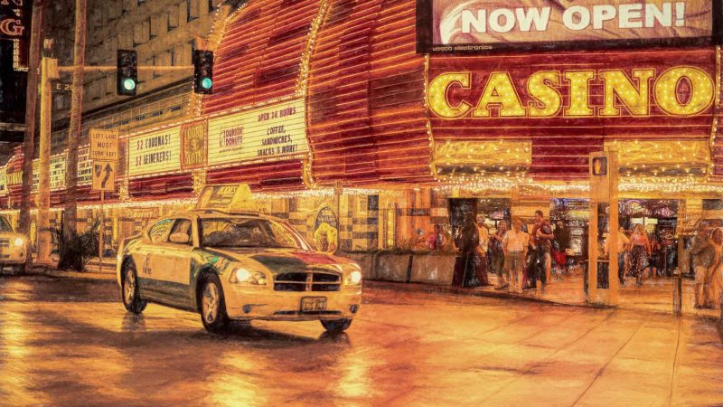 fine art print photo photography painterly paintography henry von huch buy purchase las vegas nevada casino old town car