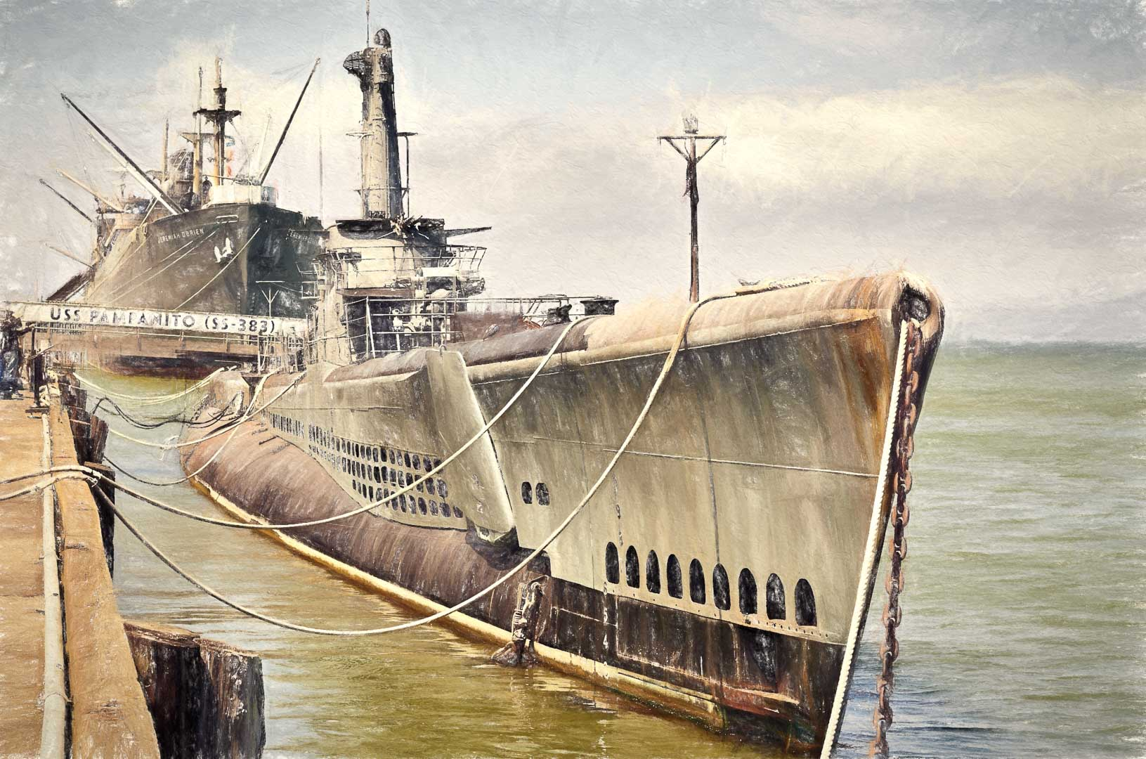 SAN FRANCISCO PAINTERLY OLD SHIPS
