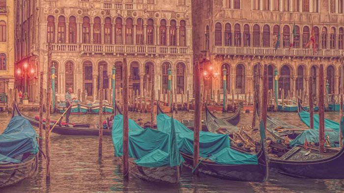 buy fine art print venice italy europe gondola