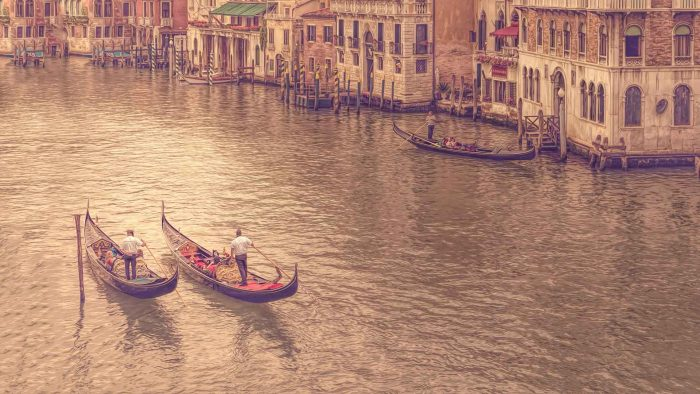 buy fine art print venice italy europe gondola paintography
