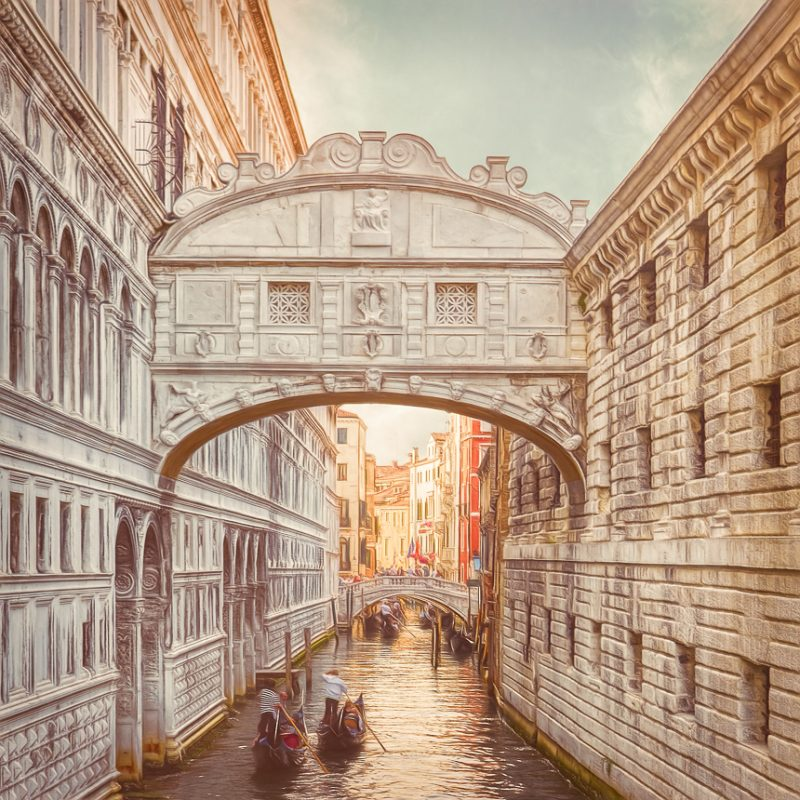 Bridge of Sighs Venice Paintography by Henry von Huch